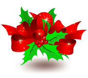 Christmas decoration. Red bow, christmas decoration Royalty Free Stock Photo