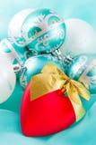 Christmas decoration. Red heart closeup Stock Photo