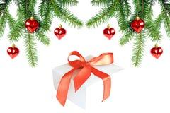 Christmas decoration. And Christmas Gift Stock Photos