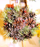 Christmas decoration. Winter pine cone Christmas decoration Royalty Free Stock Images
