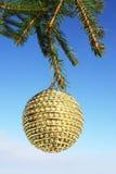 Christmas decoration. Christmas bauble on christmas tree Stock Image