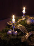 Christmas decoration. A Christmas decoration near a Christmas tree stock photo