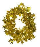 Christmas decoration. Golden garland with stars Stock Images