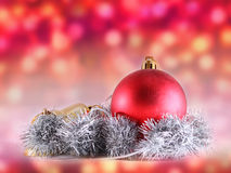 Christmas decoration on abstract background Royalty Free Stock Image