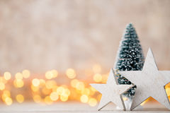 Christmas decoration on the abstract background. Royalty Free Stock Photography