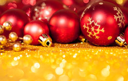 Christmas decoration on abstract background Royalty Free Stock Images