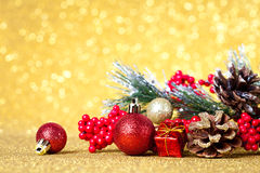 Christmas decoration on abstract background Stock Photos