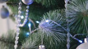 Christmas decoration on abstract background,vintage filter,soft focus stock video