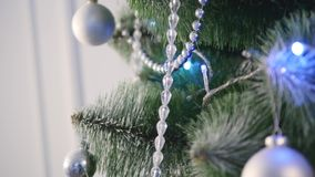 Christmas decoration on abstract background,vintage filter,soft focus stock video footage