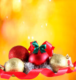 Christmas decoration on abstract backgroundStock Royalty Free Stock Images