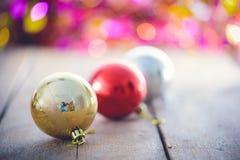 Christmas decoration on abstract bokeh Royalty Free Stock Image