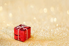 Christmas decoration on abstract bokeh background. Merry christm Stock Photo