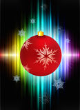 Christmas Decoration on Abstract Spectrum Stock Photos