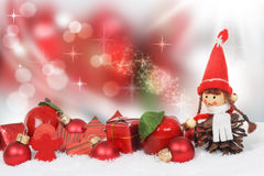 Christmas decoration against bokeh Royalty Free Stock Photography