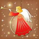 Christmas decoration. Angel. Royalty Free Stock Image