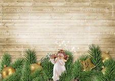 Christmas decoration with angel and fir branches Stock Photography