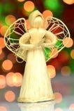 Christmas decoration, angel made of straw Stock Photos