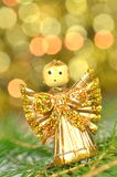 Christmas decoration, angel made of straw Stock Image