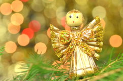 Christmas decoration, angel made of straw Royalty Free Stock Photo