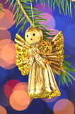 Christmas decoration, angel made of straw Stock Images
