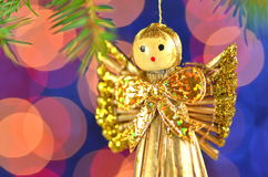 Christmas decoration, angel made of straw Stock Photo