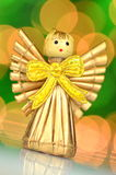 Christmas decoration, angel made of straw Stock Image