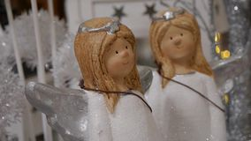 Christmas decoration with angels stock video