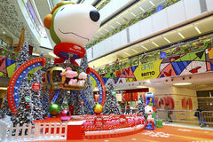 Christmas decoration at apm shopping mall, hong kong stock image