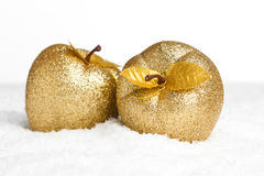Christmas decoration apples Royalty Free Stock Photos
