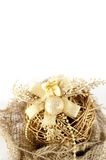 Christmas decoration background. Christmas decoration in white background. Can be used as post card royalty free stock photos