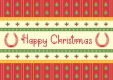 Christmas decoration background with horseshoes Royalty Free Stock Photos