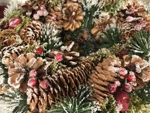 Christmas Decoration Background Natural Light Selective Focus Stock Images