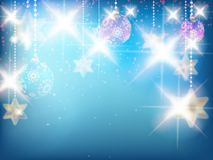 Christmas decoration Background with stars. Stock Photo
