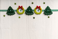 Christmas decoration on a background of white painted rustic boa Stock Photography