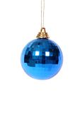 Christmas decoration ball. A blue christmas decoration ball Stock Images