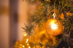 Christmas decoration ball. Close-up Stock Photo