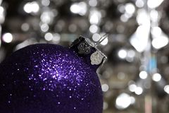 Christmas Decoration with Ball Stock Image