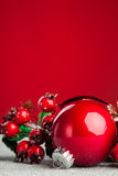 Christmas decoration ball Stock Images