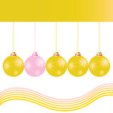 Christmas decoration ball in gold color vector Stock Photo