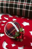 Christmas decoration ball Scottish pattern Stock Photography