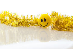 Christmas decoration ball smiley Royalty Free Stock Images