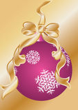 Christmas decoration ball and tinsel Royalty Free Stock Images