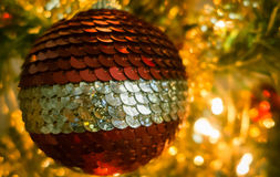 Christmas decoration - ball Stock Images