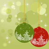 Christmas decoration ball in vector Royalty Free Stock Photo