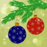 Christmas decoration ball in vector Royalty Free Stock Image