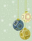 Christmas decoration ball in vector Royalty Free Stock Images