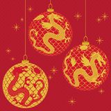 Christmas decoration ball in vector Royalty Free Stock Photos
