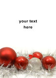 Christmas  decoration balls. Red and silver christmas decoration Royalty Free Stock Images