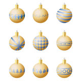 Christmas decoration balls Stock Images