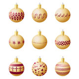 Christmas decoration balls Stock Photography